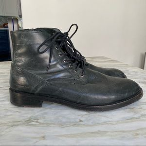 SKECHERS Mark Nason Distressed Leather Boots 11.5